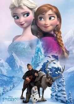 Kraina Lodu Frozen Kolaż - plakat