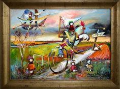 """Dzień Dobry. Dziś polecamy obraz Davida Pataraia. Ostatnia sztuka w naszej galerii> seria """"Laleczki""""."""