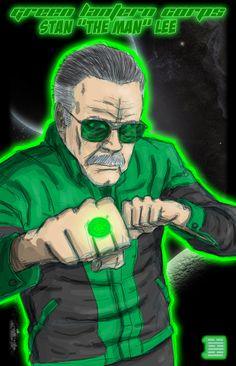 Happy 90th Birthday, Stan Lee! 18 Amazing Fan Illustrations #art #comics #marvel #illustration #stan_lee #green_lantern