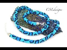 Leopard print beaded kumihimo necklace - YouTube