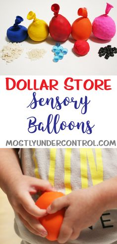 Sensory balloons are also known as stress balls and are super easy to make at home. As most of my activities go, the supplies can all be found at the dollar store and put together quickly. Kids can help you set up these sensory balloons! Check them out! Infant Activities, Preschool Activities, Toddler Sensory Activities, Table Activities For Toddlers, Children Activities, Motor Activities, Indoor Activities, Sensory Balloons, Sensory Boards