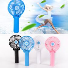 XQ Mini Portable Fan with LED Light USB Rechargeable Lightweight Handheld Cooling Electric Desktop Air Fan for Travel//Office//Outdoor