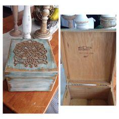 Upcycled, vintage box. Facebook.com/Restoreology.