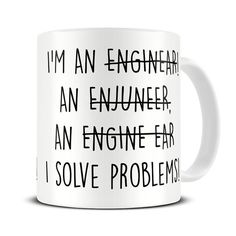 Engineer Gifts - Engineer Mug - Gift for Engineers - Graduation Gift Mug - MG458