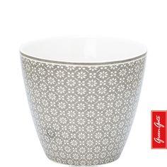 Latte Cup ~ Nanna ~ Warm Grey | GreenGate