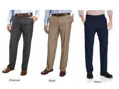 VARIETY NEW Kirkland Signature Men/'s Flat Front Non-Iron Comfort Pant