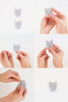 Cat and Bat Pins