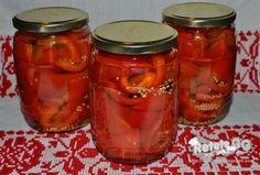 Retete gustoase si garnisite: Gogosari in otet (cu zahar) Jacque Pepin, Salsa, Mason Jars, Cooking Recipes, Canning, Food, Chef Recipes, Essen, Mason Jar