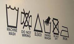 Laundry Symbols for laundry room