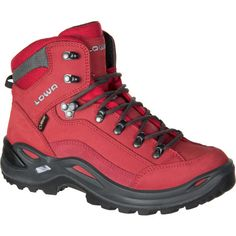 Lowa Renegade GTX Mid Hiking Boot Womens Red 90 -- Details can be found by clicking on the image. (This is an affiliate link) Mens Shoes Boots, Shoe Boots, Men's Boots, Leather Shoes, Best Hiking Shoes, Hiking Boots, Trekking Shoes, Lady In Red, Footwear