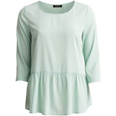 Vila Visummer - Peplum 3/4 Sleeved Blouse (275 ARS) ❤ liked on Polyvore featuring tops, blouses, shirts, harbor gray, 3/4 length sleeve shirts, peplum blouse, 3/4 sleeve blouse, grey peplum top and peplum tops