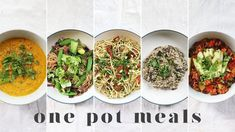 ONE POT VEGAN MEALS | 5 Fast & Lazy Beginner Recipes (with less washing ...