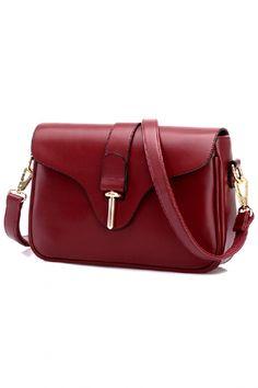 Cute Fashion Solid Crossbody PU Bag - OASAP.com