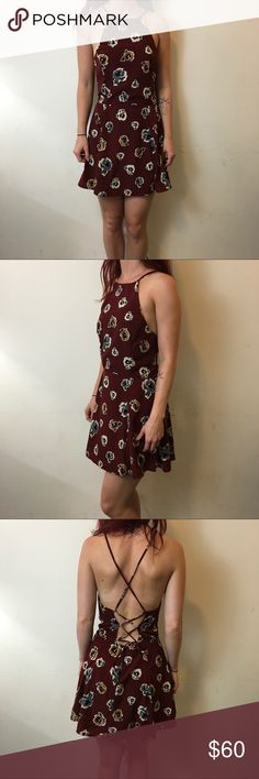 NWT After Party Nasty Gal Roses Open Back Dress After Party Dress NEW WITH TAGS and has a red rose printed body with an open back and is lined with a mini style! Size medium from nasty gal Nasty Gal Dresses