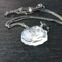 Vintage  Flower   Necklace   Oxidized   Sterling Silver  by Hildes