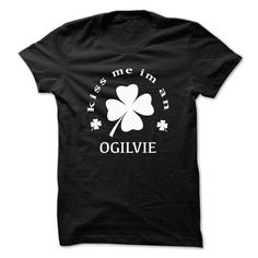 [Best holiday t-shirt names] Kiss me im an OGILVIE Discount Today Hoodies, Tee Shirts