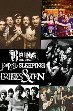 Bring me the horizon, Peirce the veil, Sleeping with sirens, Black veil brides, Of mice and men