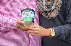 Ben and Jerry's Proposal!! He customized a flavor!! So cute.
