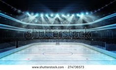 hockey stadium with spectators and an empty ice rink sport arena rendering my own design