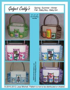 Gadget Caddy's ALL 6 patterns - Lissa Mitchell : Plastic Canvas Creations, Plastic Canvas Patterns for Instant Download