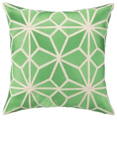 Down Filled embroidered pillow, by Trina Turk SIZE: [share] Green Pillows, Throw Pillows, Couch Pillows, Accent Pillows, Chandeliers, Green Home Decor, Luxury Home Decor, Luxury Homes, Designer Pillow