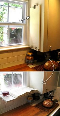 ideas to declutter kitchen counters 10 - oneonroom Kitchen Benches, Kitchen Shelves, Kitchen Redo, Kitchen Stuff, Kitchen Ideas, Small Appliances, Home Appliances, Kitchen Countertops, Kitchen Cabinets