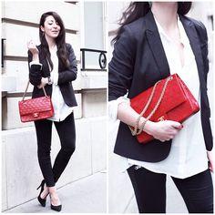 Chanel Bag, Topshop Jeans, Sacha Heels