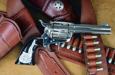 Called the peacemaker for a reason. That grip is immaculate. Colt Single Action Army, Single Action Revolvers, Gun Holster, Holsters, The Lone Ranger, Fire Powers, Cool Guns, Le Far West, Airsoft Guns