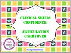 Articulation Carryover  - Pinned by @PediaStaff – Please Visit ht.ly/63sNtfor all our pediatric therapy pins