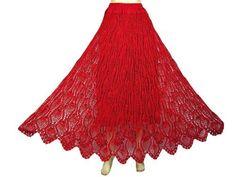 "Womens Bohemian Crochet Skirts Red Gypsy Skirt Long Skirt Boho Designer 42"" Mogul Interior, http://www.amazon.com/gp/product/B0093IV66M/ref=cm_sw_r_pi_alp_w1Spqb0PH1NK4"