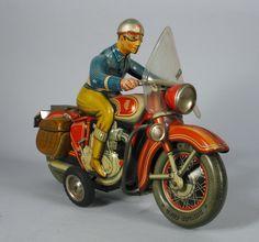 Tipp & Co Friction Tin Motorcycle 50s/ebay