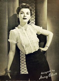 1940s vintage blouse & skirt