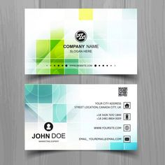 Modern business card of squares Free Vector