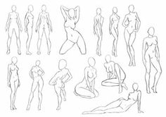 65 Ideas for drawing anime poses human figures Female Body Art, Drawing Female Body, Body Reference Drawing, Human Figure Drawing, Woman Drawing, Art Reference Poses, Female Drawing Poses, Female Form, Anime Poses Female