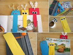 Great idea for school aged kids...monster bookmarks!!!