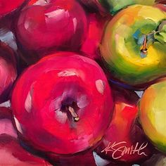 "Daily Paintworks - ""the apple of my eye"" - Original Fine Art for Sale - © Kim Smith"