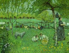 lawrenceleemagnuson:  Pierre Bonnard (France 1867-1947) Le grand jardin (1894-1895)oil on canvas H. 1.68 ; L. 2.21 metersMusée d'Orsay, Paris