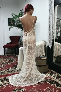 Backless Bridal Lace Nightgown Heirloom Collection Wedding Lingerie Sarafina Dreams 2014 Bridal Sleepwear by SarafinaDreams on Etsy https://www.etsy.com/listing/176103053/backless-bridal-lace-nightgown-heirloom