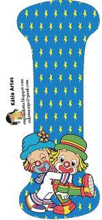 EUGENIA - KATIA ARTES - BLOG DE LETRAS PERSONALIZADAS E ALGUMAS COISINHAS: Alfabeto e Números Patati e Patata Cute Alphabet, Cute Letters, Alphabet Print, Alphabet And Numbers, Alphabet Letters, Circus Birthday, Circus Theme, Birthday Fun, Birthday Ideas