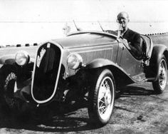 Le Corbusier driving a Fiat on the roof track of the Lingotto factory in Turin, mid-1920's....     Within the City for Three Million, Le Corbusier had come up with an abstract urban scheme that could go anywhere…the central notion behind his scheme was his belief that the automobile had changed everything.      --Le Corbusier A Life