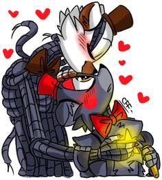 Here you go Charlize True Love (Molten Freddy X Lefty) Five Nights At Freddy's, Freddy S, Anime Fnaf, Anime Art, Steven Universe Anime, Fnaf Baby, Fnaf Sl, Fnaf Drawings, Sister Location
