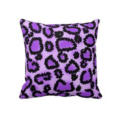 "This purple leopard print pillow is available in two sizes, this 20 inch by 20 inch square throw pillow and a 13 inch by 20 inch lumbar pillow. Purple leopard print pillows really add the "" WOW"". Girls Bedroom Accessories, Purple Accessories, Leopard Room, Leopard Pillow, Purple Love, All Things Purple, Pink, Purple Animals, Purple Bedrooms"