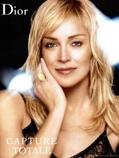 Sharon Stone for Dior. Sharon Stone, Divas, Hollywood, Celebrity Portraits, Shoulder Length Hair, Madame, Sexy Hot Girls, Mannequins, Her Hair