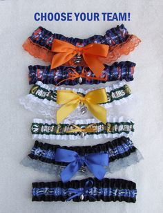 CUSTOM NFC Football Garter Set Football Team by PikesPeakCreations