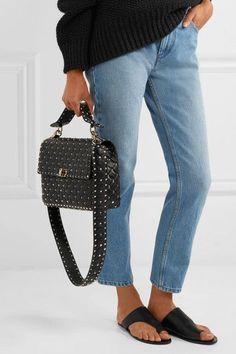 Valentino   The Rockstud Spike matelassé embellished quilted leather bag strap   NET-A-PORTER.COM
