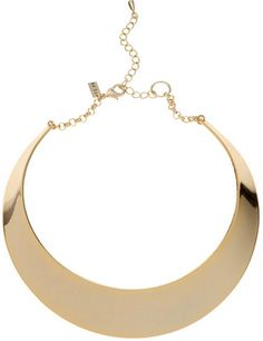 Gold Hammered Metal Choker- Reiss