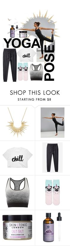 """""""Child's Pose"""" by juliaunawight ❤ liked on Polyvore featuring Celine Daoust, Reebok, Pepper & Mayne and Skin & Tonic"""