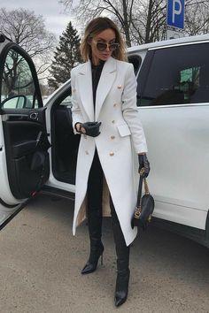 Elegantes Business Outfit, Elegantes Outfit, Winter Fashion Outfits, Look Fashion, Womens Fashion, Fashion Trends, Classy Fashion, Luxury Fashion, Girl Fashion
