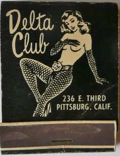 Delta Club. Pittsburg, CA. #FrontStriker. To order your business' own branded #matchbooks go to: www.GetMatches.com or call 800.605.7331 Today!
