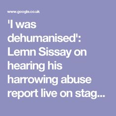 'I was dehumanised': Lemn Sissay on hearing his harrowing abuse report live on stage | Stage | The Guardian